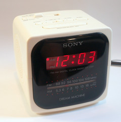HEAR ME on YOUTUBE : Vintage Sony Dream Machine White Cube Mod Square Retro 80s New Wave Alarm Clock Radio (Aces Finds Vintage) Tags: old alarm clock college home digital radio vintage for office desk sale antique room dorm electronics accessories etsy simple decor minimalist supply on