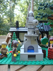 Hero Statue (jgg3210) Tags: horse castle classic fountain birds statue cheese oak lego style tudor pigs vendor lantern hay blacksmith forge gypsy stable thad villagers smithy galacia swineherd willowstone stillmoss