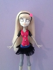 Slendy monster high CAM repaint (Laladigby) Tags: monster high doll slender repaint slendy slenderman