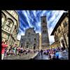 Firenze, Piazza del Duomo (R.o.b.e.r.t.o.) Tags: people italy florence italia persone tuscany firenze fi duomo roberto toscana turisti battisterodisangiovanni sigma15mmfisheye campaniledigiotto nikond700fx hdr7raw
