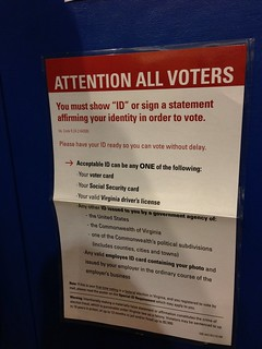 From flickr.com/photos/21893264@N00/8162743346/: Arlington, Virginia Voter ID Information