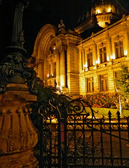 CEC palace, Bucharest (Mauro Lunardon) Tags: travel panorama architecture night nikon scenery view bank palace romania bucharest bucuresti cec maurolunardon
