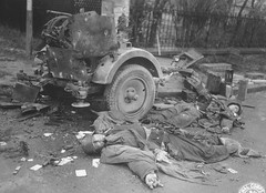German soldiers were killed by the shattered FlaK-38. (Krueger Waffen) Tags: dead soldier tank german armor killed wreck armored destroyed flak panzer flak38