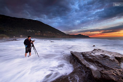 Addiction (SoniaMphotography) Tags: ocean morning sea seascape sunrise coast rocks overcast australia coastal nsw illawarra coalcliff humanelement