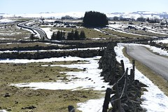 Aubrac : la route de Marchastel  Rieutort (Michel Seguret Thanks all for 8.400 000 views) Tags: schnee winter mountain snow france nature berg montagne season nikon plateau hiver natur natura neve granite invierno neige montaa inverno d800 saison massifcentral aubrac grani lozre michelseguret