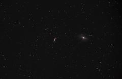 M81+M82 (Students image) (ShoulderOps) Tags: light students eos major space deep cigar astro telescope filter galaxy pollution goto pro modified service astronomy galaxies supernova ts dss ursa cls gcse teleskop cs3 quadruplet m82 m81 apochromatic bodes pixinsight 1100d unguided astronomik neq6 65q tsapo65q sn2014j