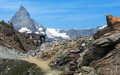 das Matterhorn (welenna) Tags: blue schnee summer sky mountain snow mountains alps architecture landscape switzerland view swiss berge observatory gornergrat matterhorn alpen wallis schwitzerland