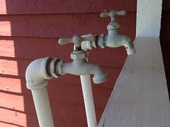 First Washing Machine (tisatruett) Tags: old water metal tools historic housework porch washing spigot timesgoneby