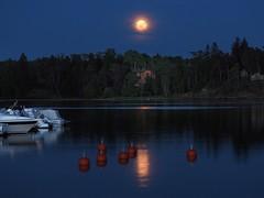 In the still of the night #230 (KaarinaT) Tags: sea moon water boats evening peaceful fullmoon villa moonlight serene boatdock huvila ainoackte ainoacktenhuvila ainoacktesvilla
