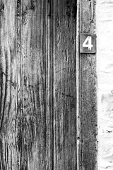 Number four (msiapan) Tags: lefkara cyprus village traditional wooden door old       monochrome