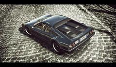 Ferrari 512 BB (Thomas_982) Tags: gt5 gt6 cars ferrari 512 bb berlinetta boxer rome classic italy day ps3 granturismo cavallino rampante nero black auto city