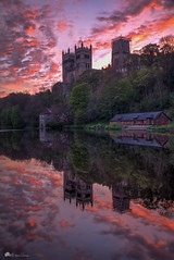 Durham sunrise (Ben's photo's) Tags: trees sky reflection water clouds sunrise river dawn durham cathedral colourful canon70d