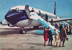 BOAC inflight card mid-1960s (smallritual) Tags: postcard bermuda 1960s boeing707 boringpostcards boac