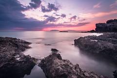 alla sera (Ivana_Cat) Tags: blue sea color rock colorful tramonto capo sicilia paesaggio milazzo susnset
