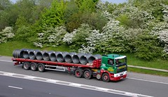 Ernest Thorpe 11th May 2016 M18 (asdofdsa) Tags: hgv haulage transport trucks lorry vehicle 11thmay2016 coils hawthorn blossom