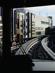 Slide (H.H. Mahal Alysheba) Tags: city railroad urban japan tokyo nikon outdoor snapshot monorail nikkor afs d800 2485mmf3545