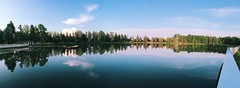 Waldbad (tinto) Tags: panorama lake reflection nature pond iphone vsco iphone6 vscocam