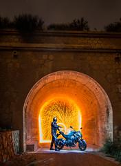LightMotos_4 (Suso Sinmiedo) Tags: blue lightpainting verde green azul alicante motorbike moto tunel agost pilito vaverdedelmaigm