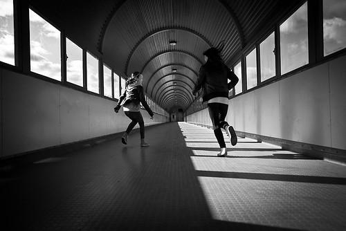 Catch Me If You Can.. (Peter Levi) street city girls blackandwhite bw playing blancoynegro kids sweden stockholm streetphotography running catch blackwhitephotos bestcapturesaoi elitegalleryaoi asquaresuperstarstemple