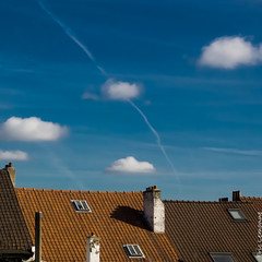 The sky of my dreams. (geofana) Tags: leica blue brussels chimney sky belgium belgique belgi bruxelles roofs rooftiles dlux5
