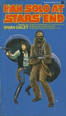 Barefoot Wookie (Wires In The Walls) Tags: illustration book starwars harrisonford paperback cover scanned scifi sciencefiction popculture 1970s 1979 wookie chewbacca hansolo delrey firstprinting briandaley watchwhereyoupointthatbowcaster