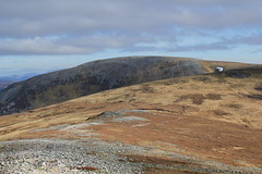 Distant summit cairn of Carn bhac (blob59) Tags: mountains landscape scotland scenery hillwalking braemar munroes carnbhac
