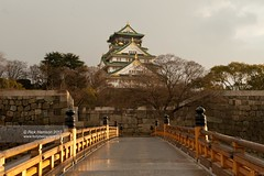 Osaka Castle (tricky (rick harrison)) Tags: bridge trees castle heritage japan jp osaka osakajo   sakaj