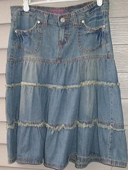 Jean skirt from Maurices (m01229) Tags: clothing ebay denim maurices denimskirt