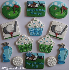 Golf Themed Birthday Set (Songbird Sweets) Tags: golf sugarcookies songbirdsweets