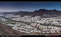 Muscat - Al Wadi Al Kabir [The Big View] (Beauty Eye) Tags: city longexposure sea mountain seascape building green eye architecture photoshop canon landscape eos rebel landscapes long exposure day seascapes outdoor scene adobe om tamron oman muscat 2012 lightroom t3i mct cameraraw ultrawideangle   f3545 600d   wadikabir beautyeye masqat 1024mm  canon600d  tamronspaf1024mmf3545diiild rebelt3i kissx5 diiild canon600deos oman omanomancountry tamronspaf1024mmf3545d  muscat