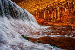Magic Power ~{explored | front page}~ (landESCAPEphotography | jeff lewis) Tags: travel red southwest jeff nature water rock creek canon subway landscape photography utah waterfall nationalpark stream unitedstates hiking north scenic lewis fork canyon boulder trail 5d canon5d zion left landescape jefflewis canoneos5d landescapephotography