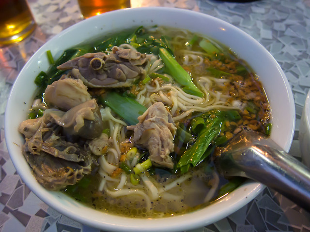 Steamed Chicken with Shan Noodles (Kyet Paun Shan Khao Shwe, Ayeh)