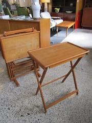 Teak Danish TV Trays (Mod Livin') Tags: modern vintage design furniture danish eames midcenturymodern midcentury teak madmen heywoodwakefield selig risom midmod johnkeal