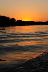 Sunset on Lake James (Moore Natural Shots) Tags: sunset sun lake reflection water reflections james solar boat nikon ripple indiana nikkor angola pokagon 2470 lakejames pokagonstatepark d700 afsnikkor247028g