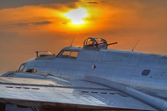"""B-17G """"Yankee Lady"""" at sunset (JetImagesOnline) Tags: flying wwii boeing bomber fortress hdr warbird 3xp b17g yankeelady"""