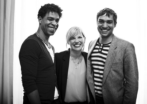 Carlos Acosta, Eva Birthistle and Christopher Simpson at the Day of the Flowers photocall