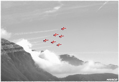 Team formation (Iceman_Mark) Tags: airplane switzerland ticino suisse tiger jet lugano patrouille swissairforce