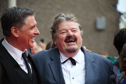 Craig Ferguson and Robbie Coltrane on the red carpet for the European premiere of Brave at the Festival Theatre