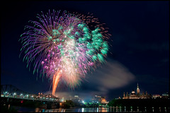 Oh, Canada! (Uncle_Greg) Tags: night fireworks ottawa parliament government parliamenthill ottawariver parliamentbuildings houseofcommons canadianmuseumofcivilization unclegreg gregstevenson