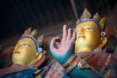 The many faces and hands of Buddha (vividcorvid) Tags: china old people sculpture abstract art statue architecture ancient asia hand buddha buddhist religion buddhism places tibet historic holy gyantse pelkorchodemonastery