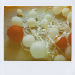 each birthday i think of her. (Lisa Toboz) Tags: red white film museum balloons polaroid ribbons pittsburgh 6ws naturallight installation northside spectra expired tangled mattressfactory deflated softtone