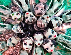 The Faces of Frankie Stein (Nataloons) Tags: school original 2 white black beach home fashion monster set dead toys skull dawn 1 us dance high doll classroom sweet wave frankie 1600 r tired roller maze after gloom grayscale shores stein rule exclusive mattel ick greyscale tru ghouls explored frankiestein monsterhigh