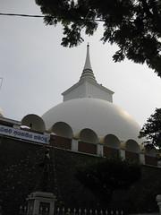 White Buddhist chedi (oldandsolo) Tags: buddhism srilanka ceylon colombo chedi matale buddhiststupa buddhistfaith buddhistchedi