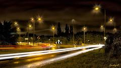 Saturday 03:30 Chelmer Valley (sparkeyb) Tags: road city longexposure light bulb night 35mm nikon waiting taxi roundabout earlymorning trails headlights latenight springfield lighttrails essex taillights chelmsford cs5 d7000 chelmervalley radlabs sparkeyb