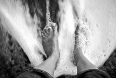untitled (ranjini.v) Tags: bw white love feet beach water self sand nikon toes jeans rings slowshutter ranjini anoldpic soistheediting