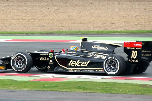 Esteban Gutiérrez in his Lotus GP2 car at Silverstone