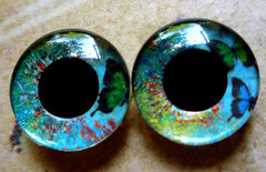 """Handpainted Blythe Eyechips - """"Little Pictures"""""""