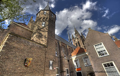 Prinsenhof (Jan Kranendonk) Tags: sky holland building tower church netherlands clouds scenic landmark delft medieval monastery historical cloister hdr prinsenhof