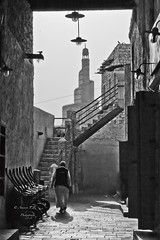 An old lane ..* (    , ) Tags: old white man black dark photography still nikon gulf d gray souq edit doha qatar  d600  qtr         ameera       q6r     amoora       waqf   qa6ar