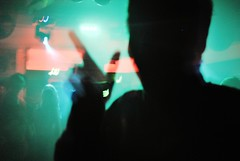 Cut-Out (Ralph-Thompson) Tags: lighting uk light party portrait people music motion colour art club contrast photography scotland dance nikon experimental dj mood shadows faces dancing glasgow vibrant candid sub gig rosa nightclub nighttime nightlife freelance youngphotographer d3000 ralphthompson